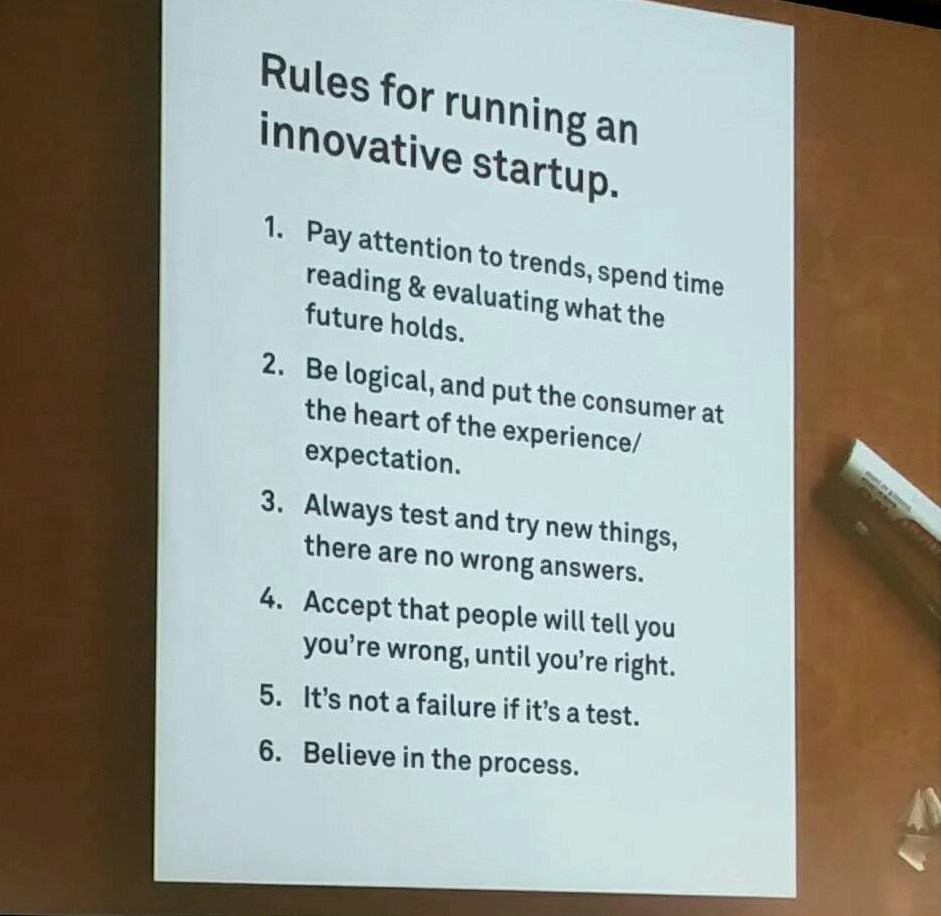Rules for running an innovative startup