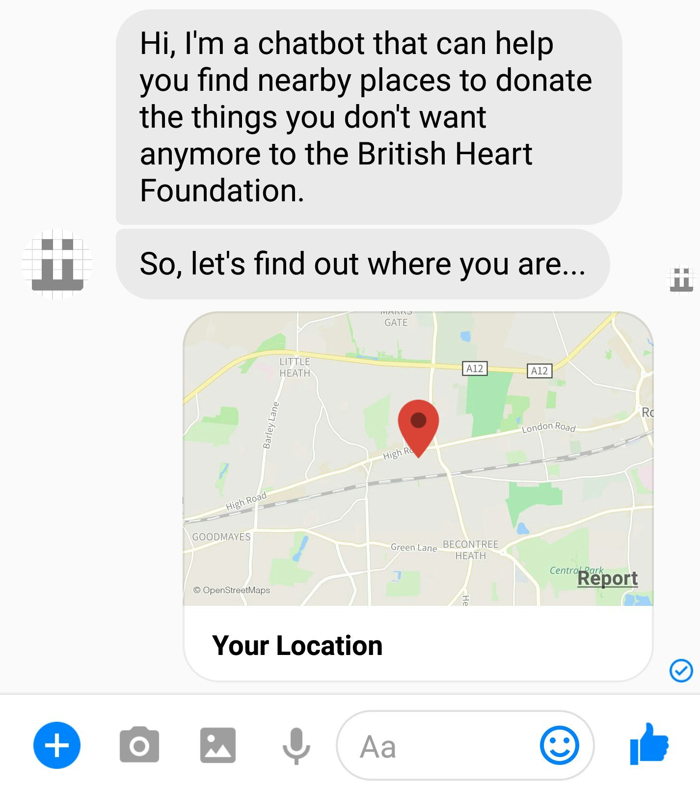 Chatbot location