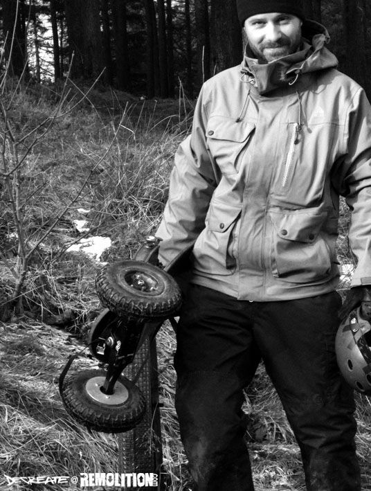 Mountainboarding in Macclesfield Forest