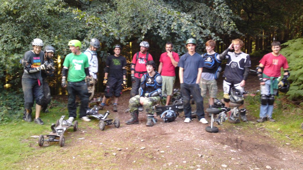 Mountainboarding at combe syndeham