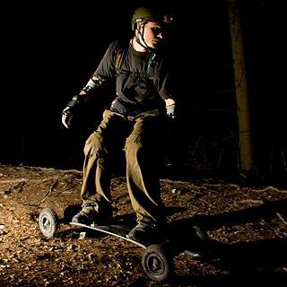 Mountainboarding at night in Wendover Woods