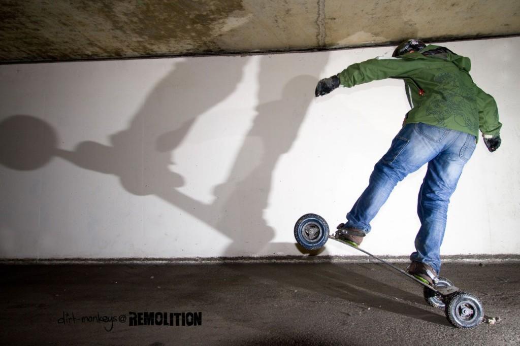 Tricks in an underpass in Milton Keynes