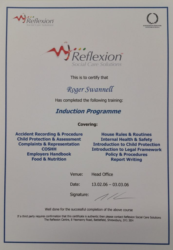 Relexion's Induction Programme